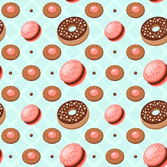 Dessert cookies pattern