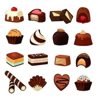 Desserts au chocolat.