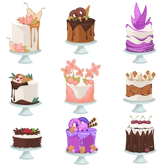 Desserts et sucreries dans le menu du café ou du restaurant