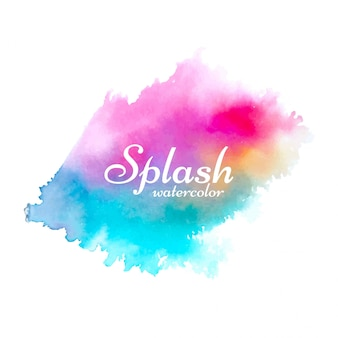 Dessin abstrait coloré aquarelle splash
