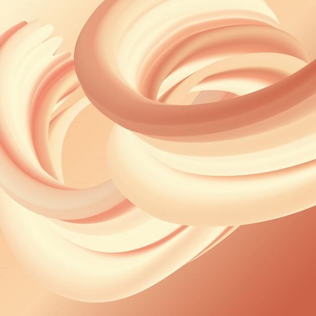 Dessin abstrait de flux liquide