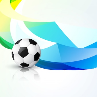 Dessin abstrait de football créatif