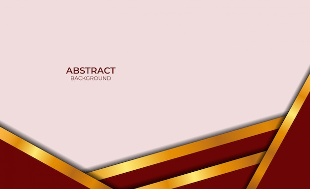 Dessin abstrait rouge et or