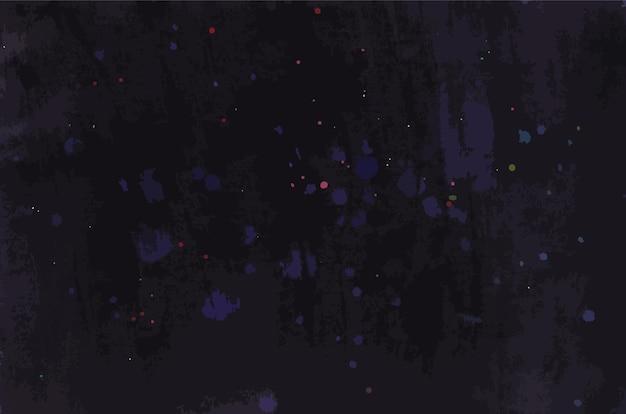 Dessin abstrait sombre acrylique du ciel nocturne avec des étoiles