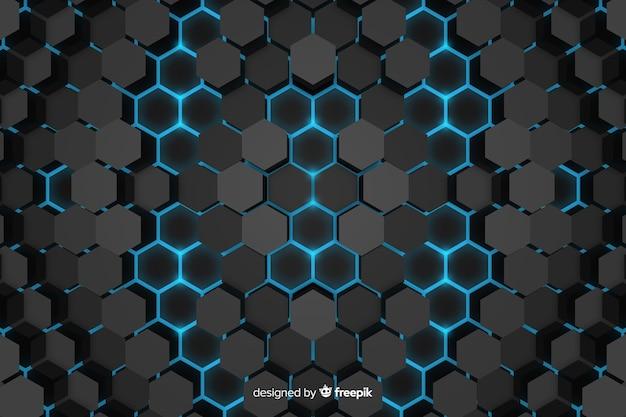 Dessin abstrait technologique en nid d'abeille