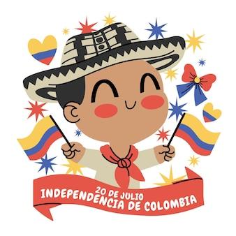 Dessin animé 20 de julio - independencia de colombia illustration