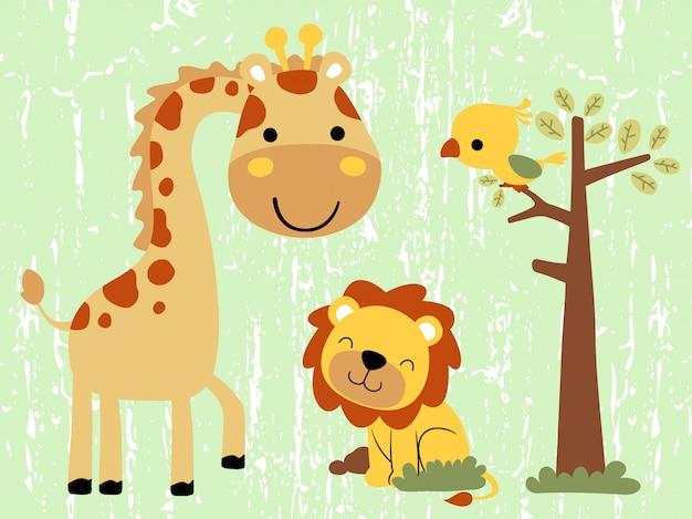 Dessin animé adorable animaux
