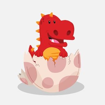 Dessin animé adorable bébé dinosaure