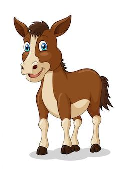 Dessin animé adorable cheval