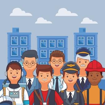 Dessin animé américain de la fête du travail