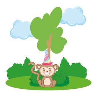 Dessin animé animal anniversaire