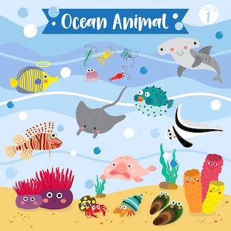 Dessin animé animal d'océan