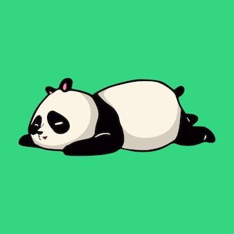Dessin animé animal panda endormi