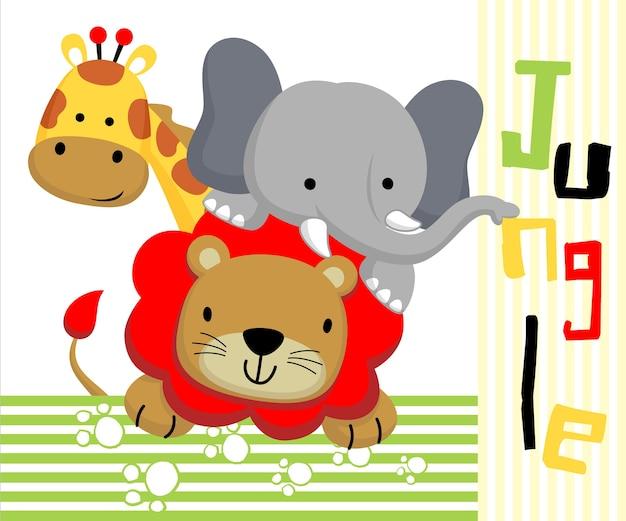 Dessin animé animaux de la jungle