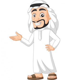 Dessin animé arabe saoudien présentant