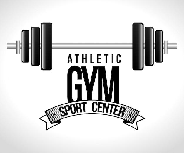 Dessin animé athlétique gym fitness sport design
