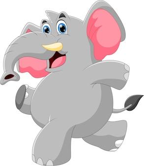 Dessin animé, bébé éléphant, poser