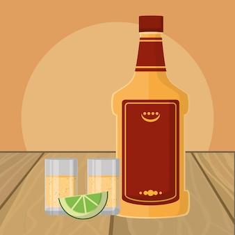 Dessin animé de boisson alcoolisée