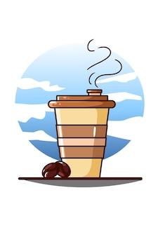 Un dessin animé de café