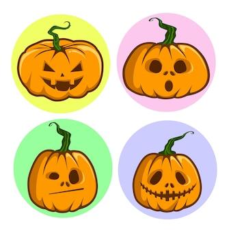 Dessin animé de citrouilles halloween