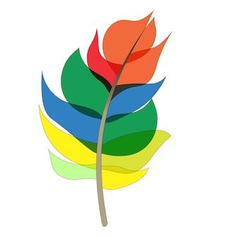 Dessin animé coloré peint des oiseaux de plume isolé sur fond blanc. illustration vectorielle. eps10
