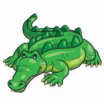 Dessin animé crocodile mignon