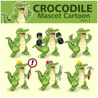 Dessin animé de crocodile