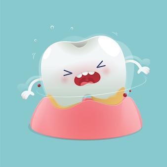 Dessin animé dents lâches