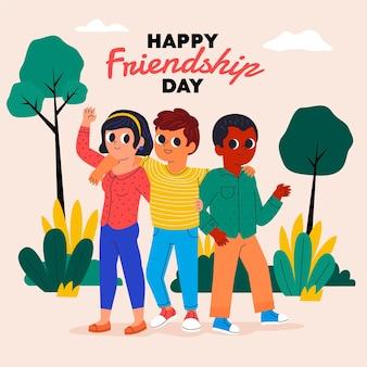 Dessin animé dia del amigo - 20 de julio illustration