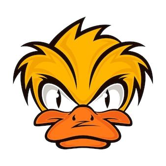 Dessin animé diable visage canard