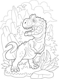 Dessin animé dinosaure allosaurus