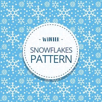 Dessin animé doodle modèle sans couture hiver mignon flocon de neige