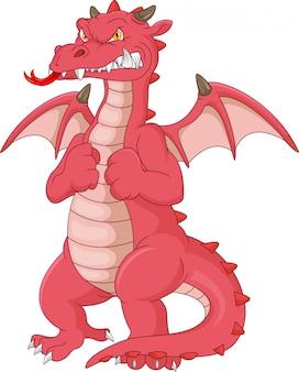 Dessin animé de dragon en colère
