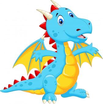 Dessin animé dragon mignon
