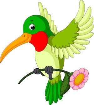 Dessin animé drôle de colibri