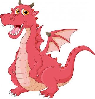 Dessin animé drôle de dragon