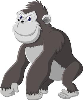 Dessin animé drôle de gorille