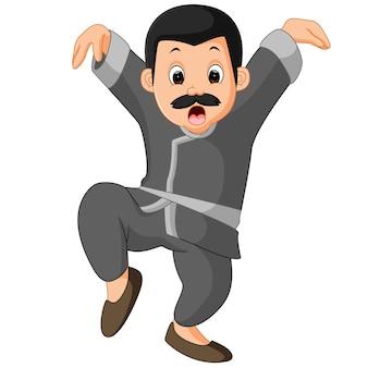 Dessin animé drôle de kung-fu