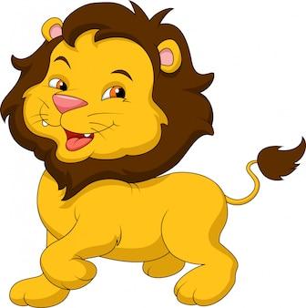 Dessin animé drôle de lion