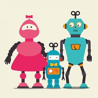Dessin animé drôle de robot