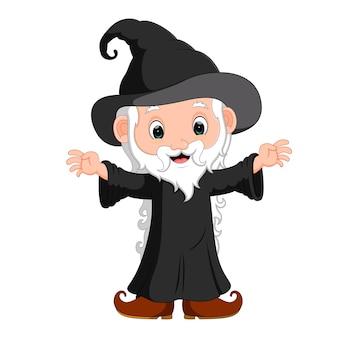 Dessin animé drôle de sorcière