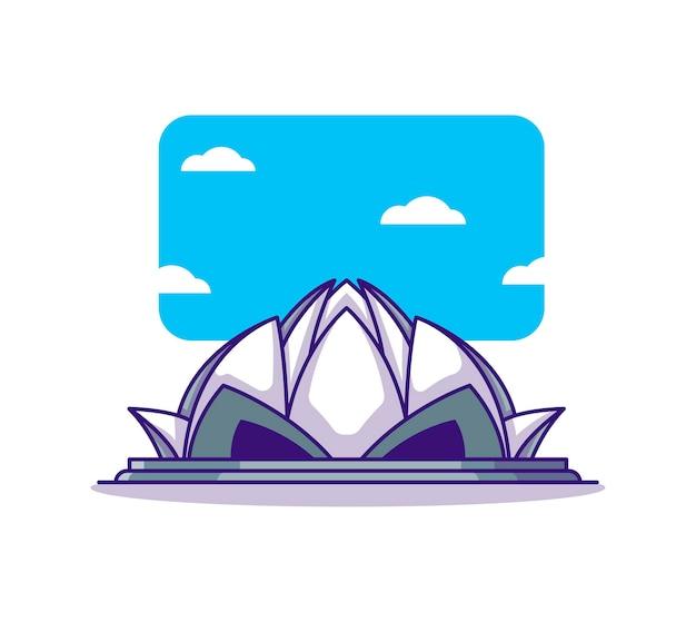 Dessin animé du temple du lotus