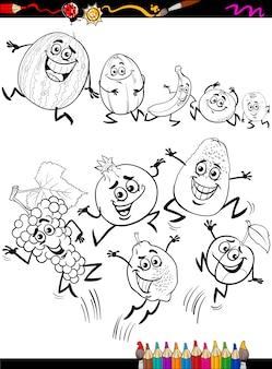 Dessin animé de fruits drôles dessin animé