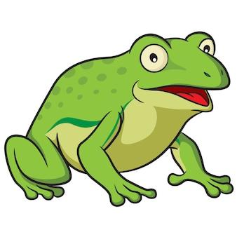 Dessin animé grenouille