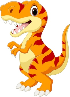Dessin animé, heureux, tyrannosaure