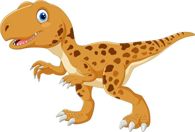 Dessin animé heureux tyrannosaurus