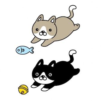 Dessin animé jouet chat chaton