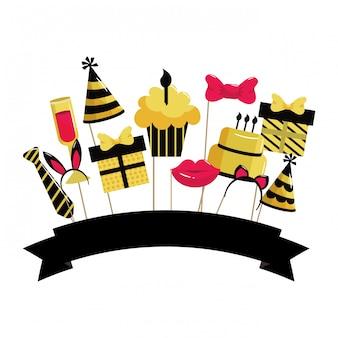 Dessin animé joyeux anniversaire