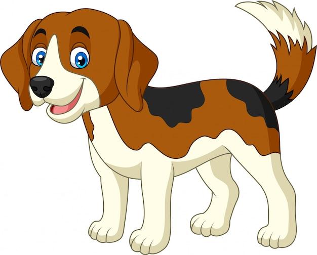 Dessin animé joyeux petit chien