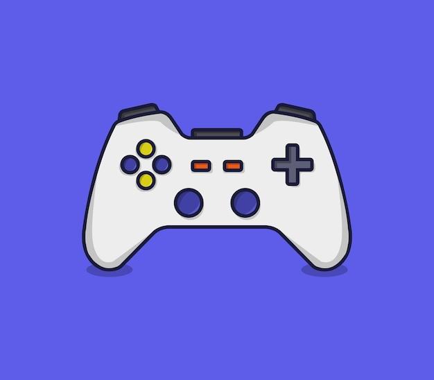 Dessin animé joystick illustré